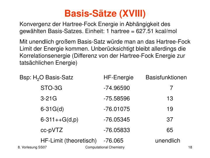 Basis-Sätze (XVIII)