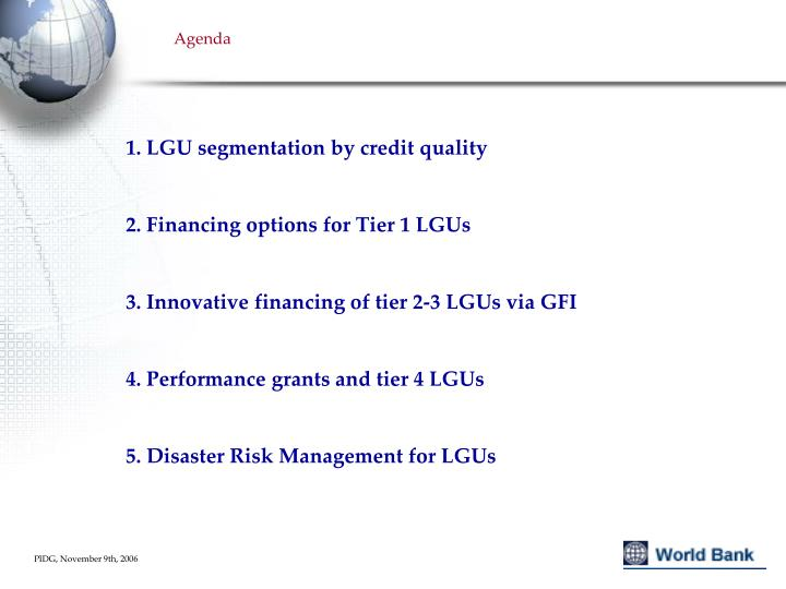 1. LGU segmentation by credit quality