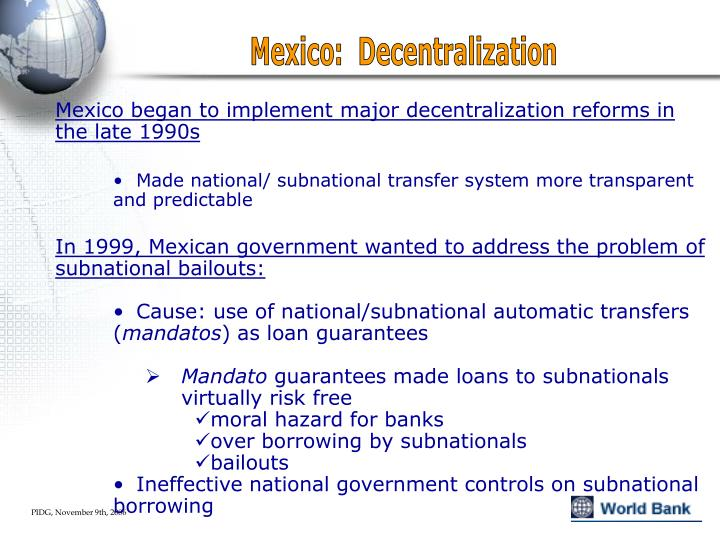 Mexico:  Decentralization
