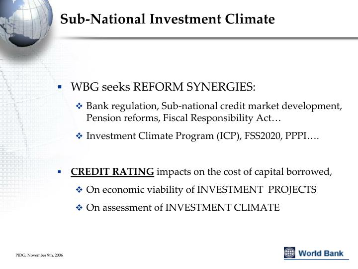 Sub-National Investment Climate