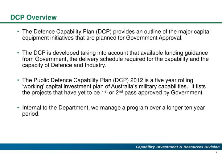 Dcp overview