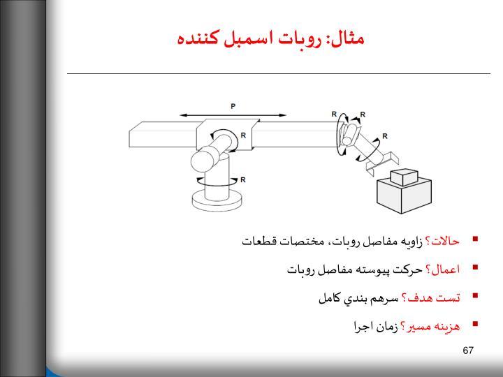 مثال: روبات اسمبل كننده