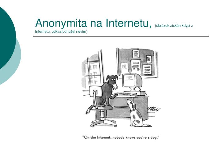 Anonymita na Internetu,