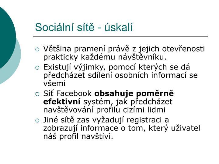 Sociální sítě - úskalí