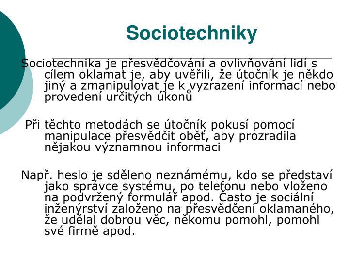 Sociotechniky