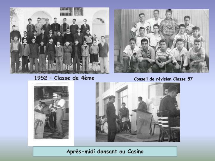 1952 – Classe de 4ème