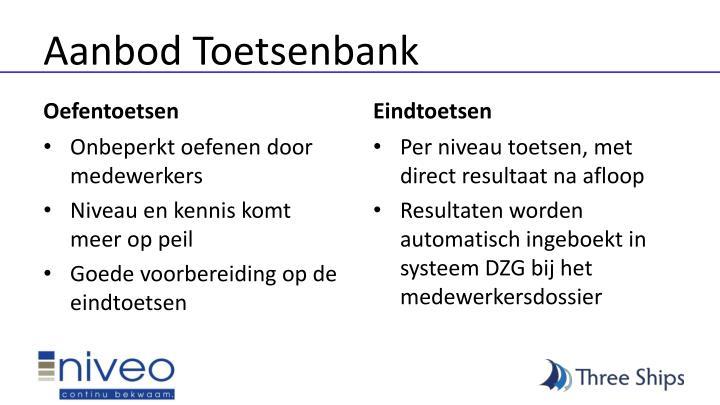 Aanbod Toetsenbank