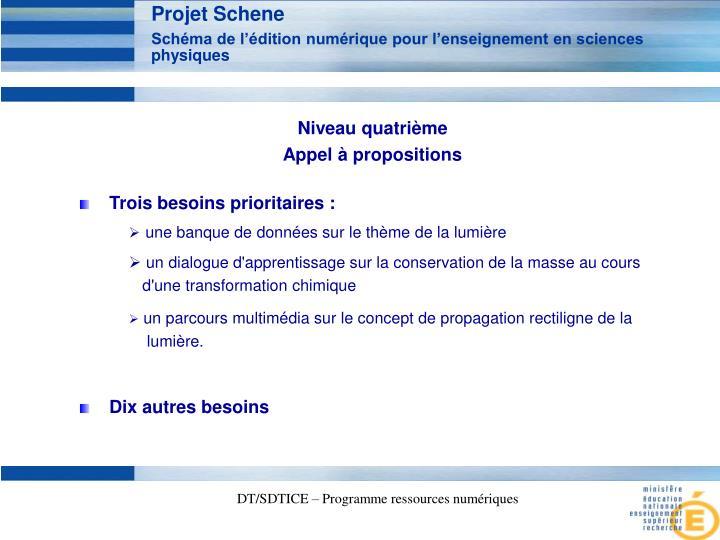 Projet Schene