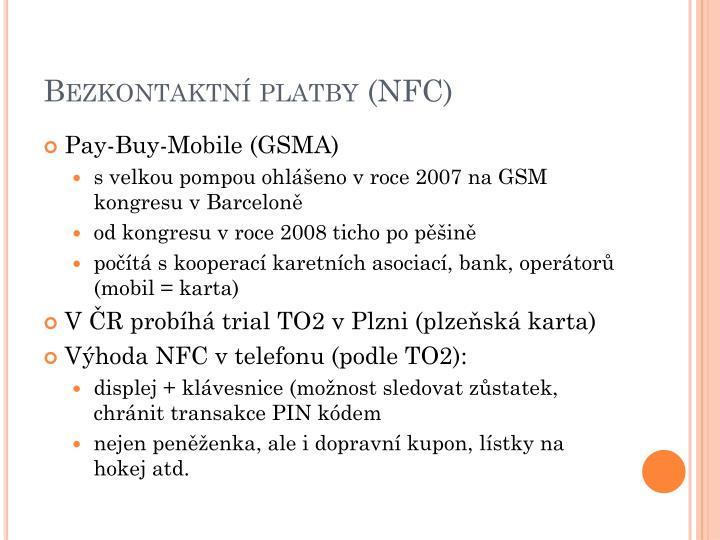Bezkontaktní platby (NFC)