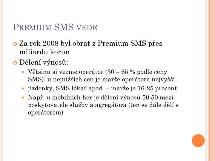 Premium SMS vede