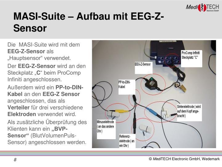 MASI-Suite – Aufbau mit EEG-Z-Sensor