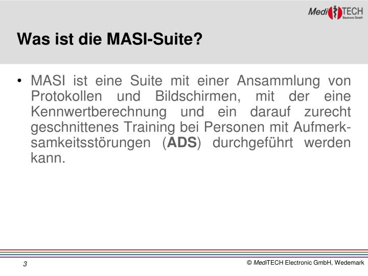 Was ist die MASI-Suite?