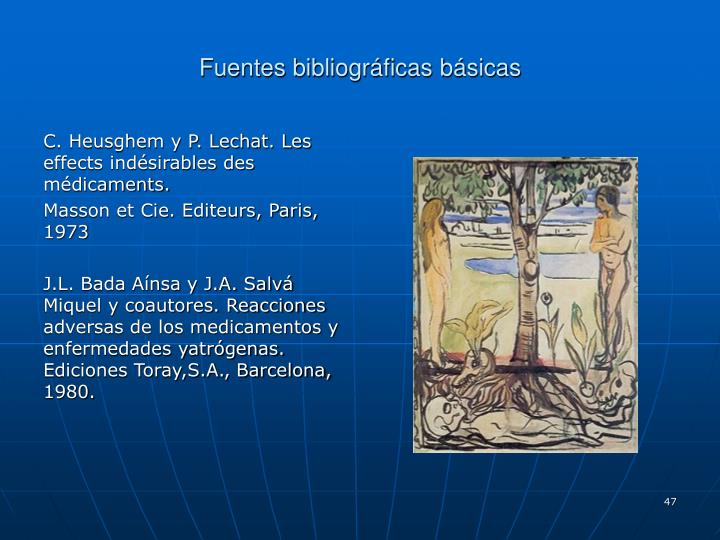 Fuentes bibliográficas básicas
