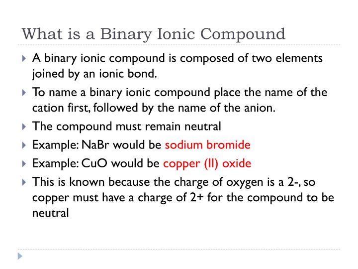 What is a Binary Ionic Compound