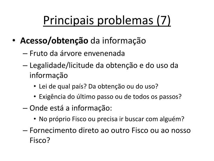 Principais problemas (7)