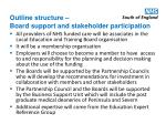 outline structure board support and stakeholder participation
