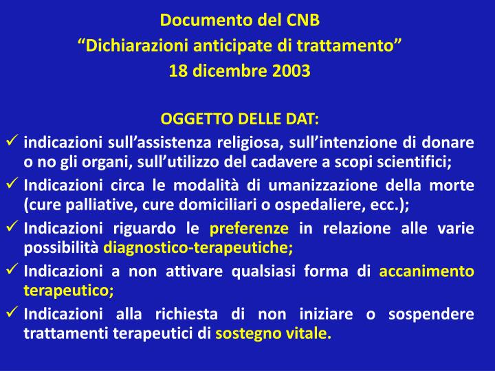 Documento del CNB