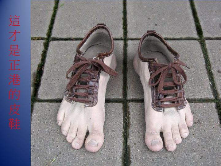 這才是正港的皮鞋