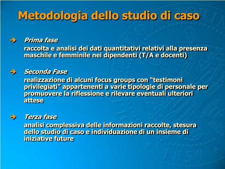 Metodologia dello studio di caso