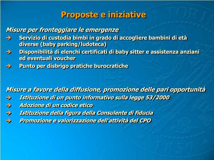 Proposte e iniziative