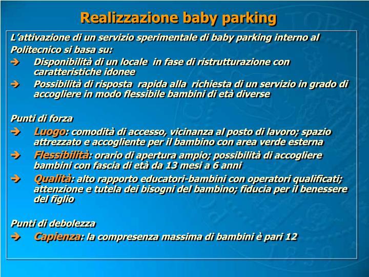 Realizzazione baby parking