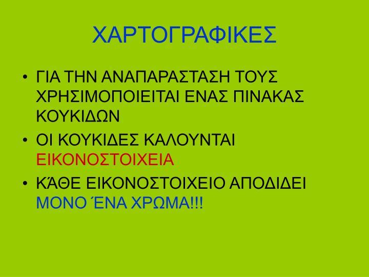 ΧΑΡΤΟΓΡΑΦΙΚΕΣ