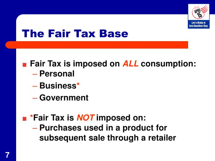 The Fair Tax Base