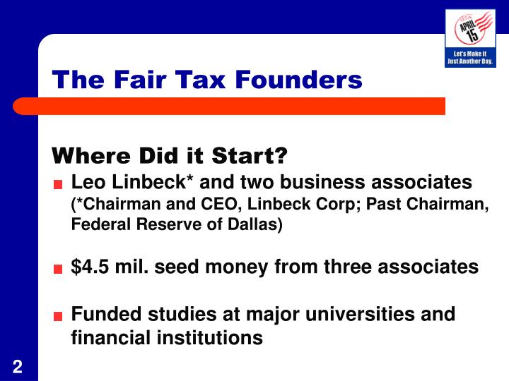 The fair tax founders