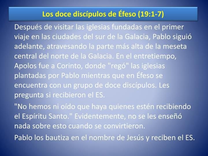 Los doce discípulos de Éfeso (19:1-7)
