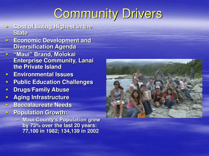 Community Drivers