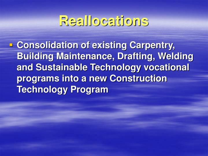 Reallocations