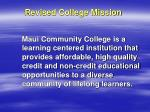 revised college mission