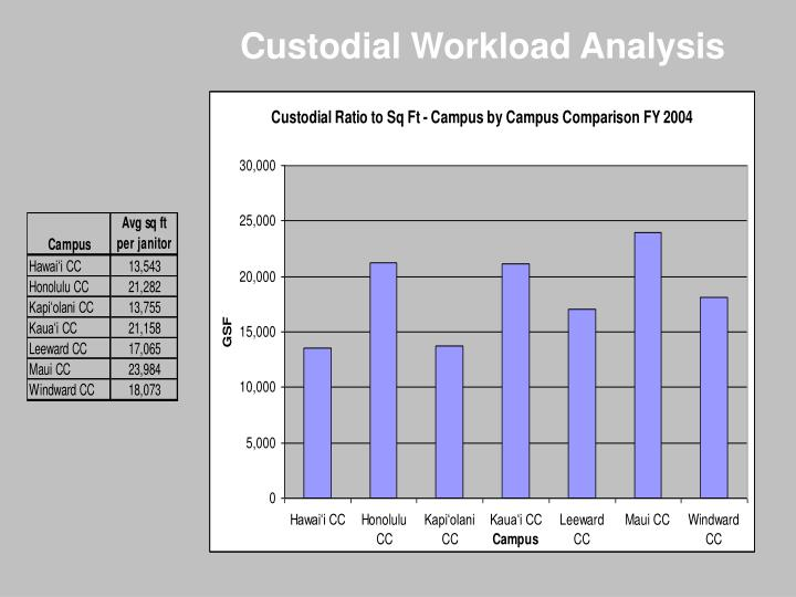 Custodial Workload Analysis