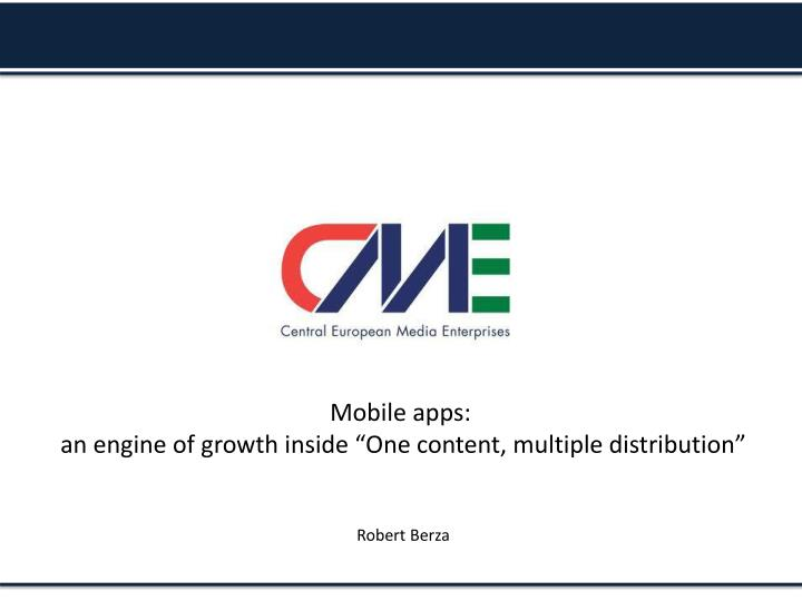 Mobile apps: