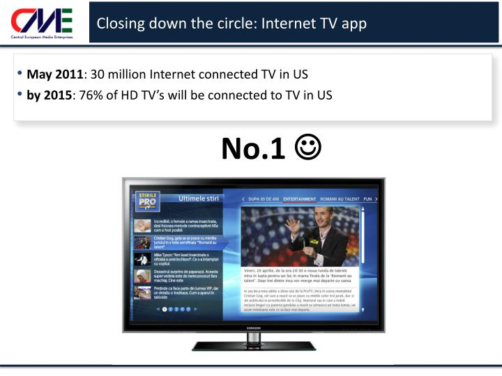 Closing down the circle: Internet TV app