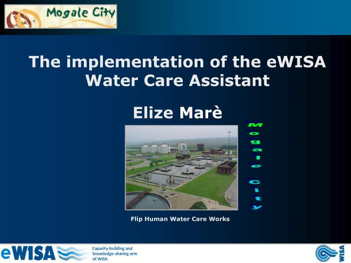 The implementation of the eWISA Water Care Assistant