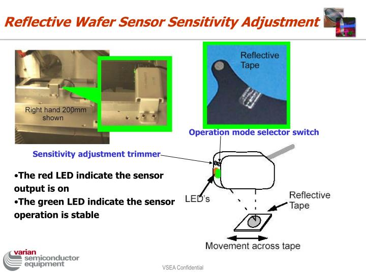 Reflective Wafer Sensor Sensitivity Adjustment