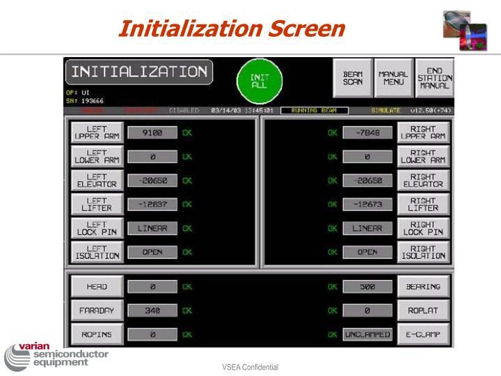 Initialization Screen