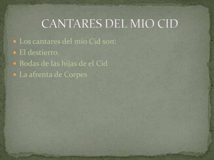 CANTARES DEL MIO CID