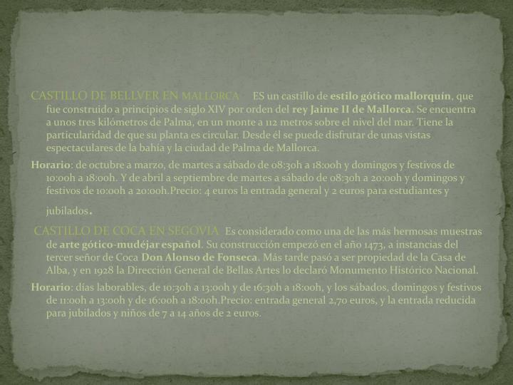 CASTILLO DE BELLVER EN