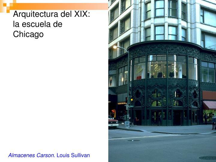 Arquitectura del XIX: la escuela de Chicago