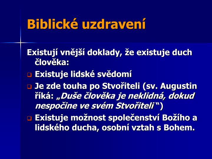 Biblické uzdravení