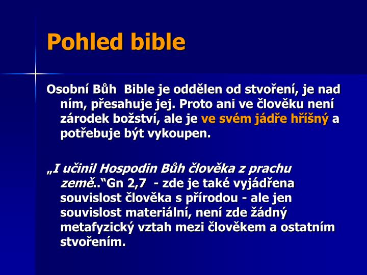 Pohled bible
