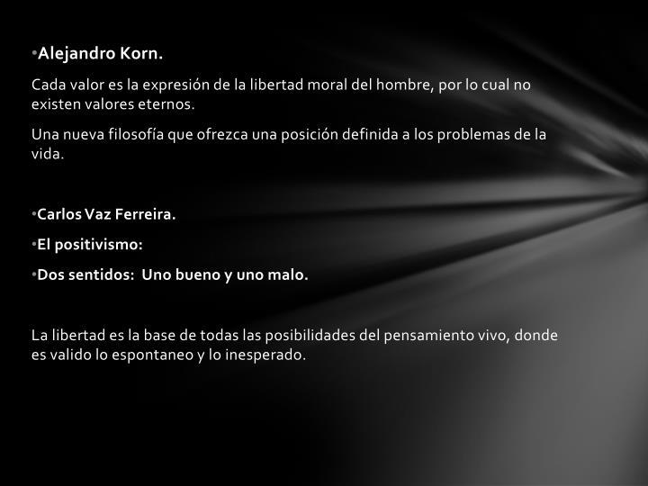 Alejandro Korn.