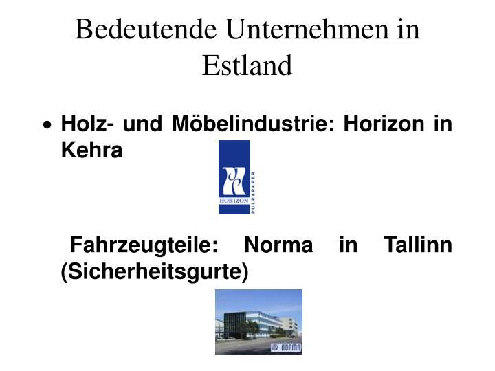 Bedeutende Unternehmen in Estland