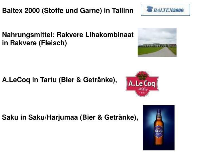 Baltex 2000 (Stoffe und Garne) in Tallinn