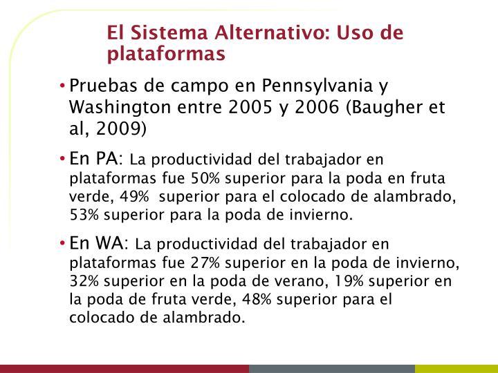El Sistema Alternativo: Uso de plataformas