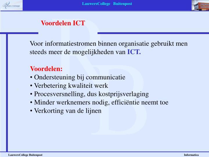 Voordelen ICT