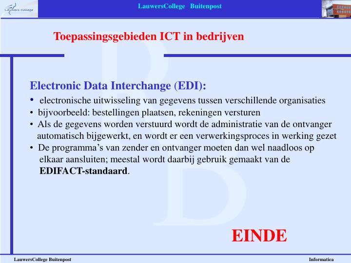 Toepassingsgebieden ICT in bedrijven