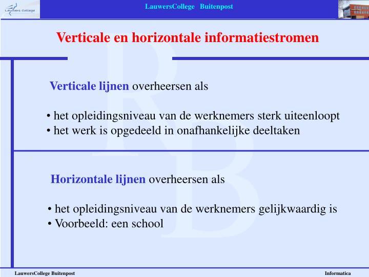 Verticale en horizontale informatiestromen